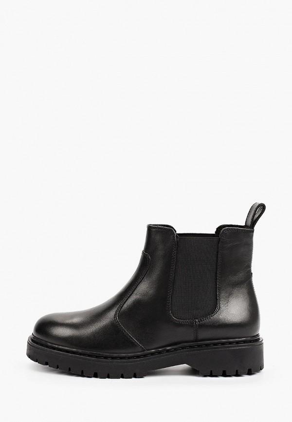 женские ботинки-челси geox, черные