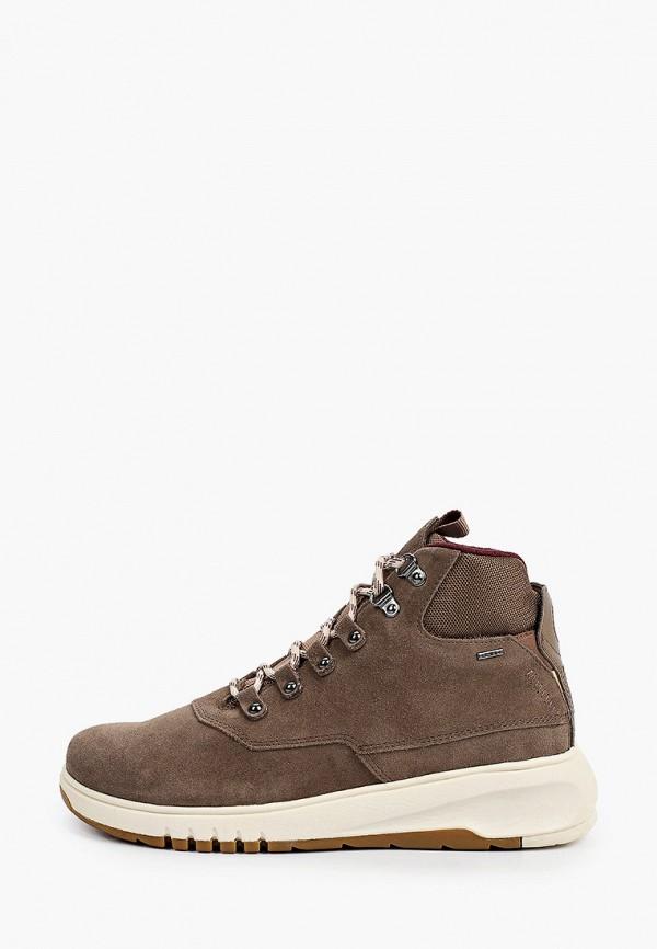 женские высокие ботинки geox, коричневые