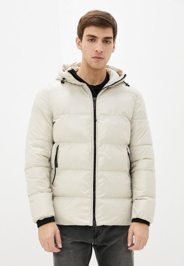 мужская утепленные куртка geox, бежевая