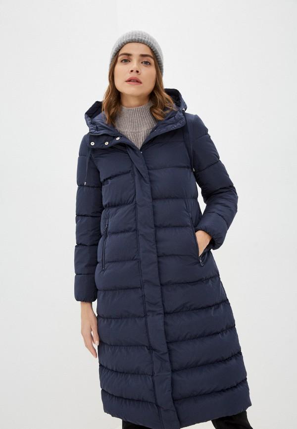 женская утепленные куртка geox, синяя