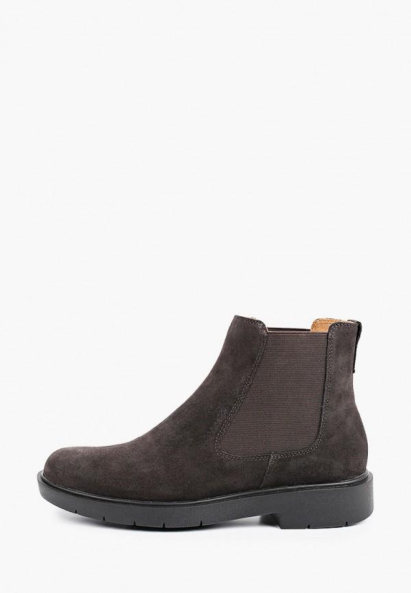 женские ботинки-челси geox, коричневые