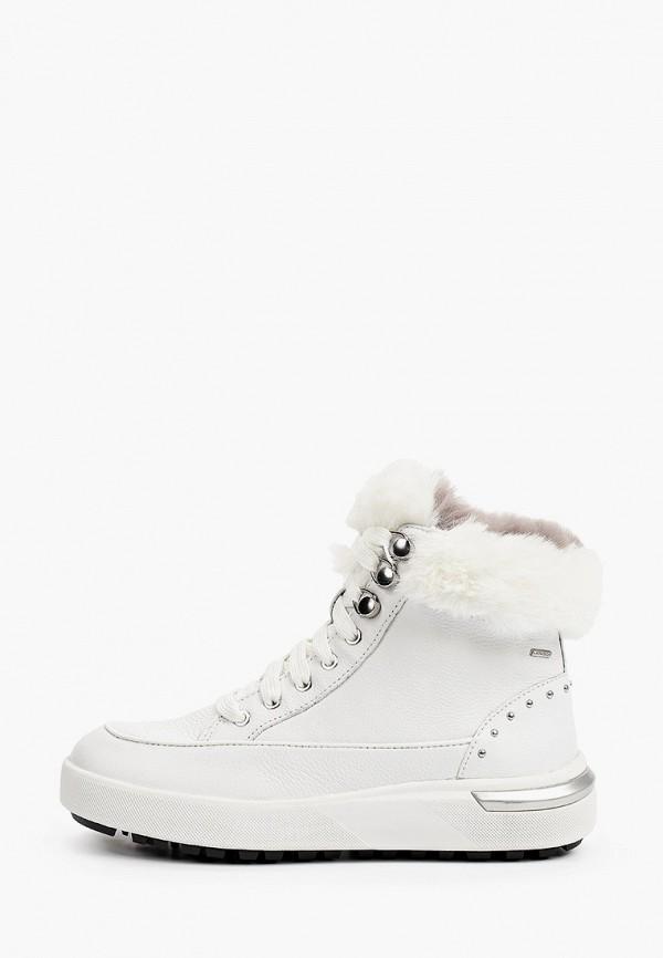 женские высокие ботинки geox, белые