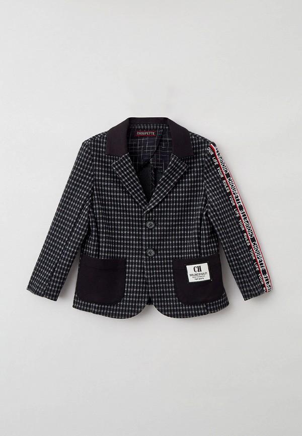 пиджак choupette для мальчика, серый
