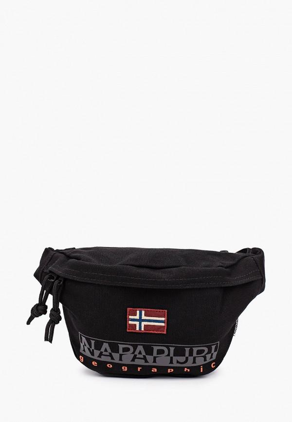 женская поясные сумка napapijri, черная