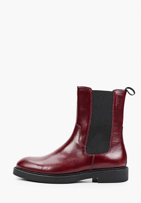 женские ботинки-челси vagabond, бордовые