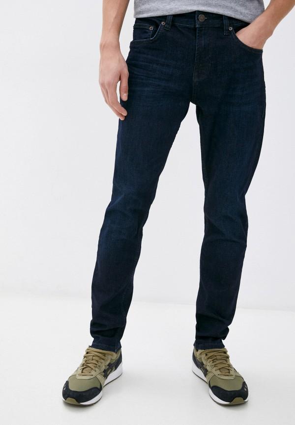 мужские зауженные джинсы strellson, синие