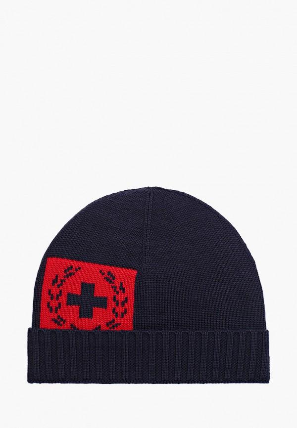 мужская шапка strellson, синяя