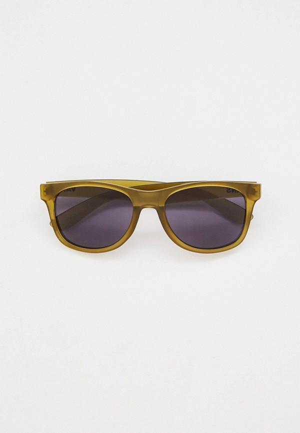 мужские квадратные солнцезащитные очки vans, хаки
