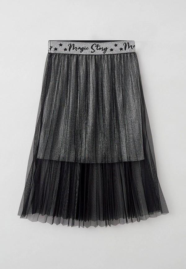юбка choupette для девочки, серебряная