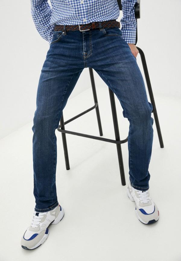 мужские зауженные джинсы hackett london, синие