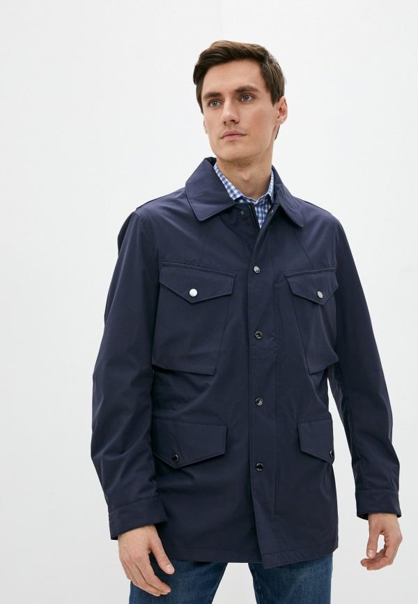 мужская куртка hackett london, синяя