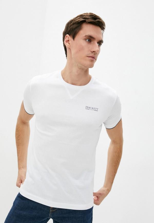 мужская футболка с коротким рукавом hackett london, белая