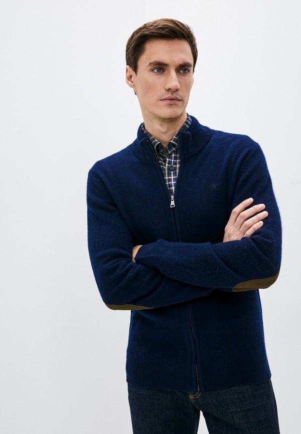 мужской кардиган hackett london, синий