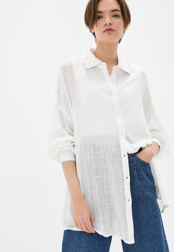 женская рубашка с длинным рукавом topshop, белая