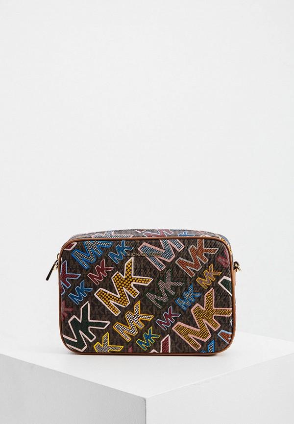 женская сумка через плечо michael kors, разноцветная