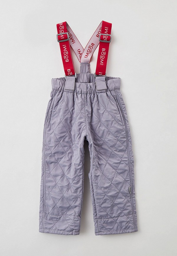 утепленные брюки boom by orby для девочки, серые