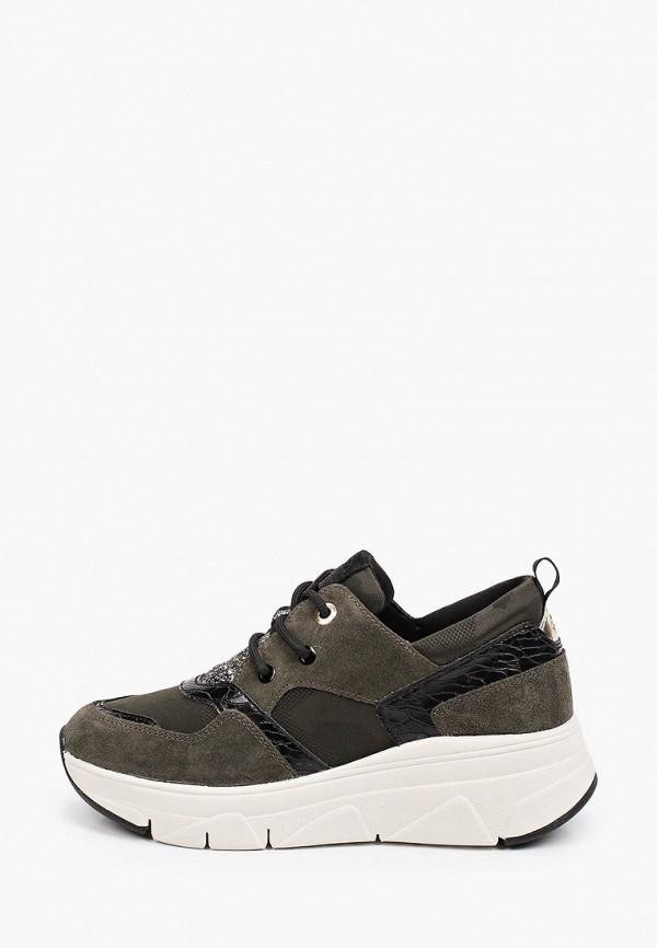 женские низкие кроссовки tamaris, хаки