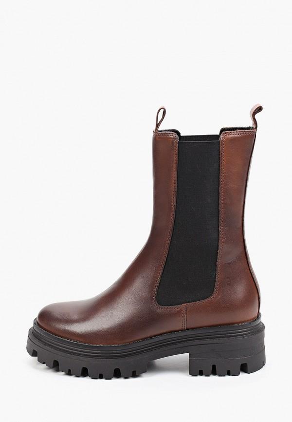 женские ботинки-челси tamaris, коричневые