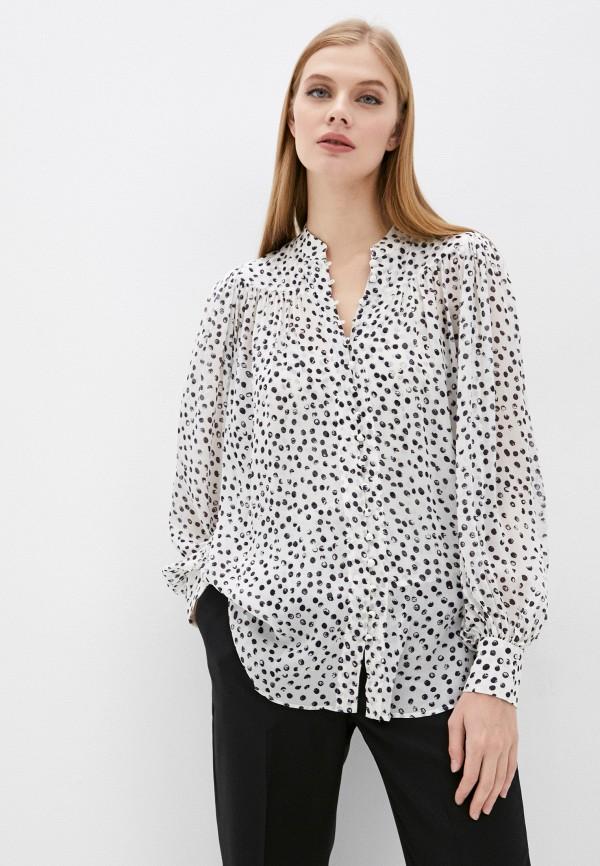 женская блузка с длинным рукавом the kooples, белая
