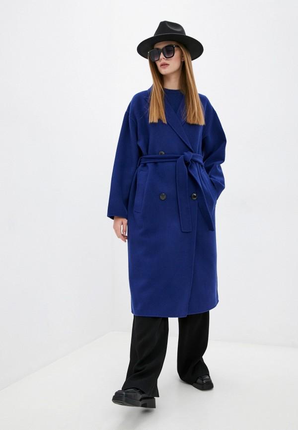 женское двубортные пальто the kooples, синее