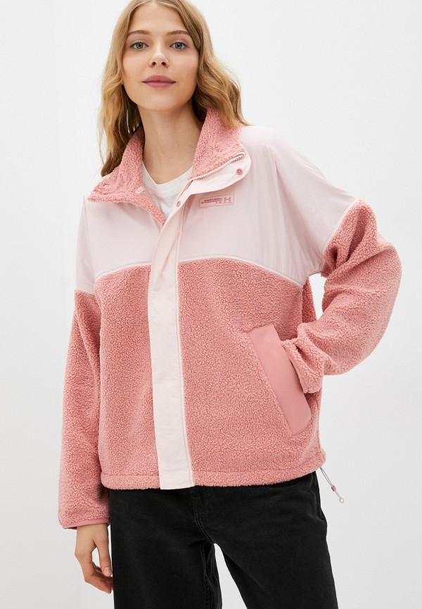 женская спортивные олимпийка under armour, розовая