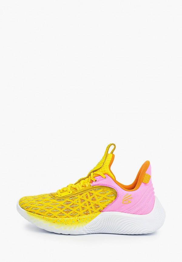 женские низкие кроссовки under armour, желтые