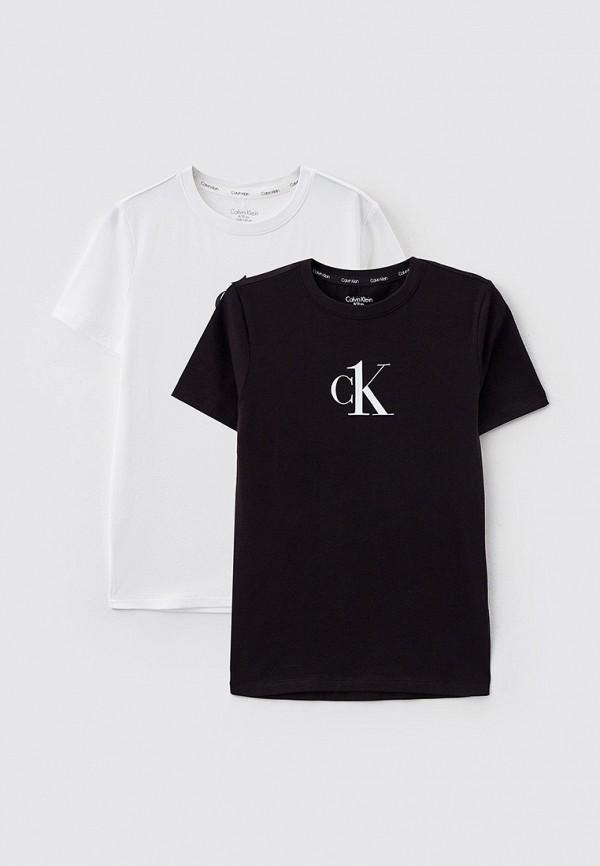 футболка с коротким рукавом calvin klein для мальчика, разноцветная
