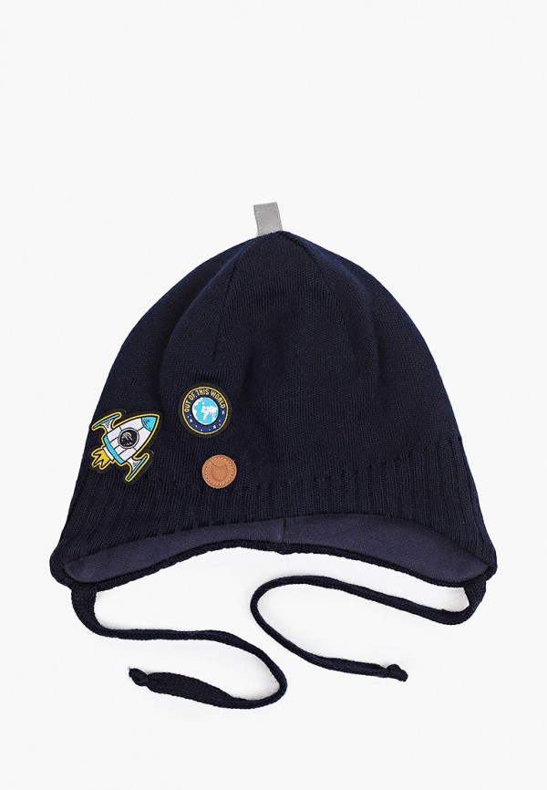 шапка котофей для мальчика, синяя