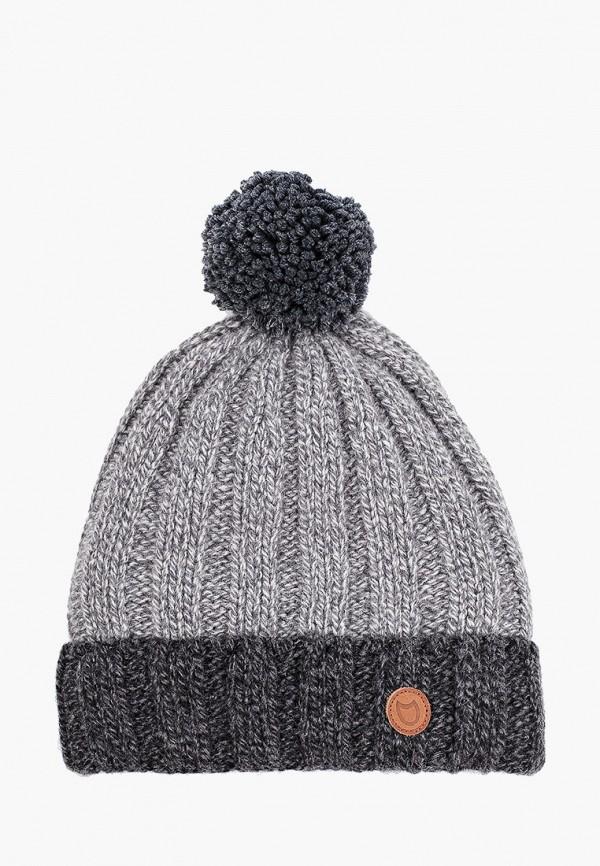 шапка котофей для мальчика, серая