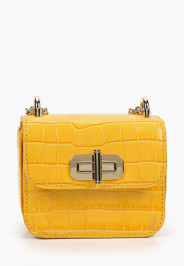 женская сумка с ручками tommy hilfiger, желтая