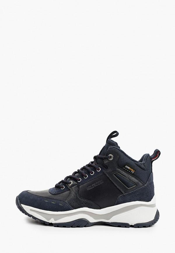 мужские высокие кроссовки tommy hilfiger, синие