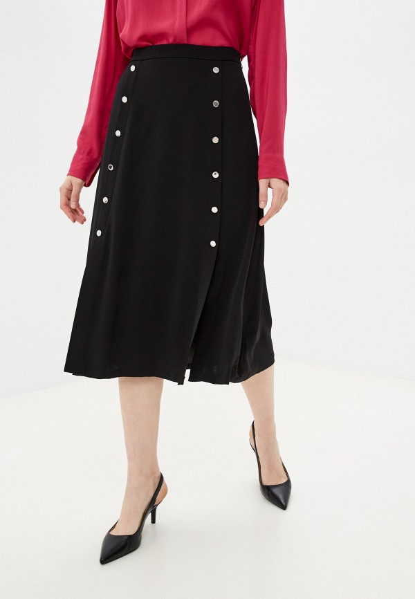 женская юбка-трапеции tommy hilfiger, черная