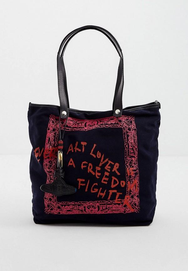 женская сумка с ручками vivienne westwood, синяя