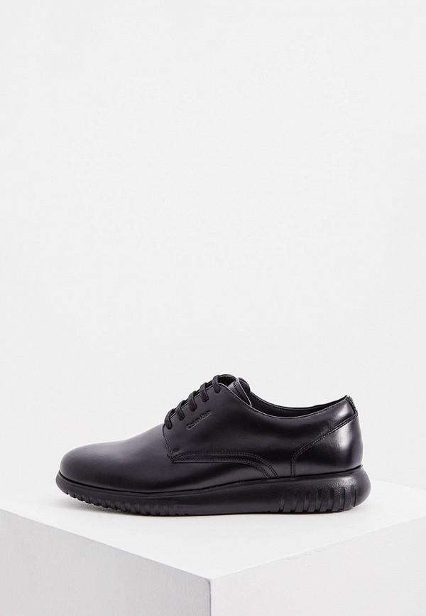 мужские туфли-дерби calvin klein, черные