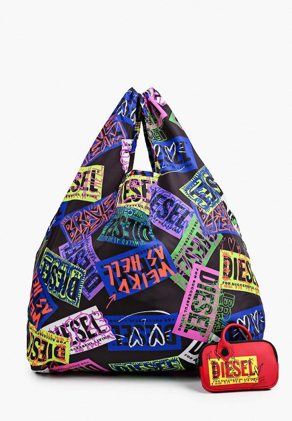 женский кошелёк с ручками diesel, разноцветный