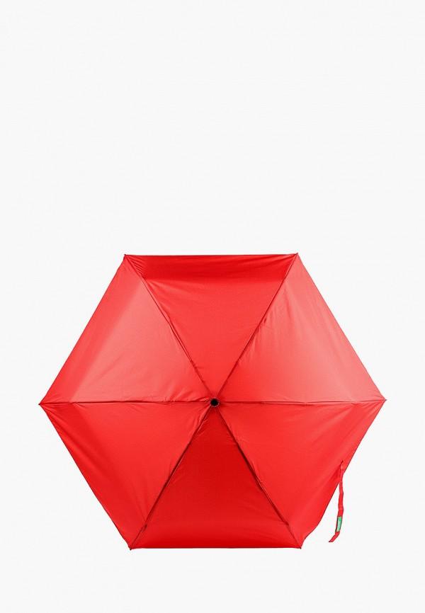женский складные зонт united colors of benetton, красный