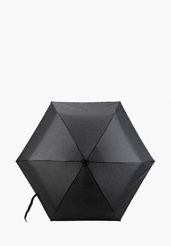 женский складные зонт united colors of benetton, черный