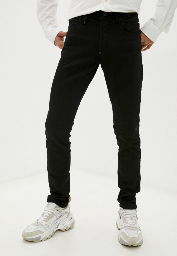 мужские зауженные джинсы philipp plein, черные