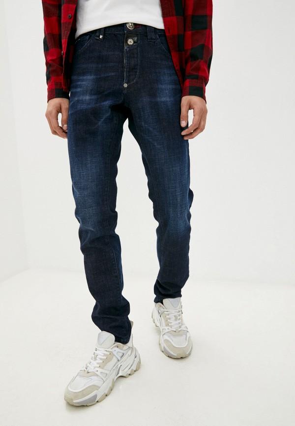 мужские зауженные джинсы philipp plein, синие