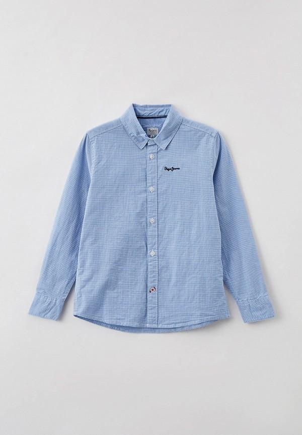 рубашка pepe jeans london для мальчика, голубая