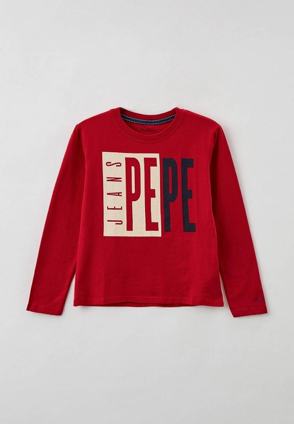 лонгслив pepe jeans london для мальчика, красный