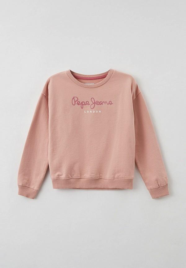 свитшот pepe jeans london для девочки, розовый