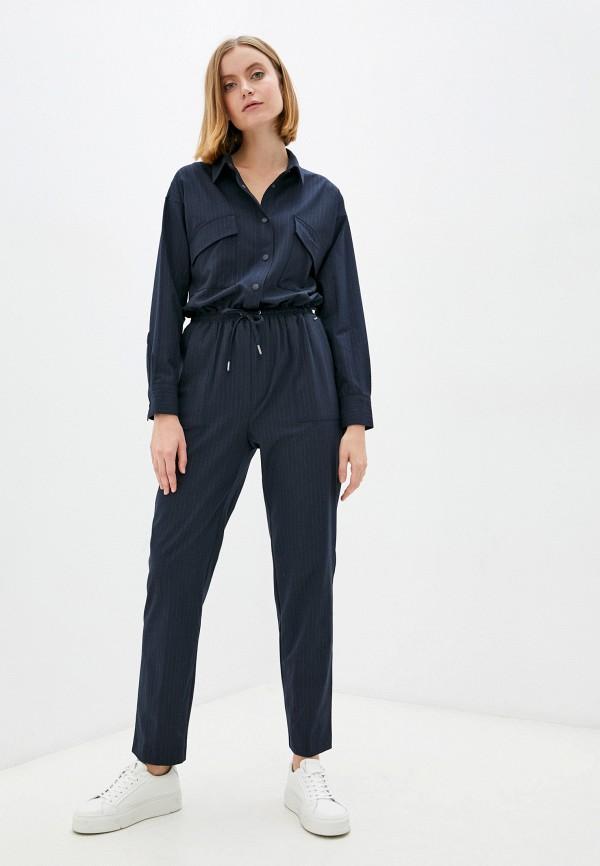 женский комбинезон с брюками pepe jeans london, синий
