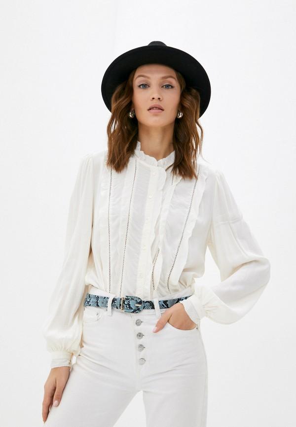 женская блузка с длинным рукавом pepe jeans london, белая