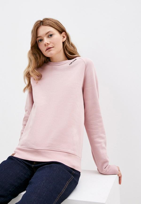 женский свитшот pepe jeans london, розовый