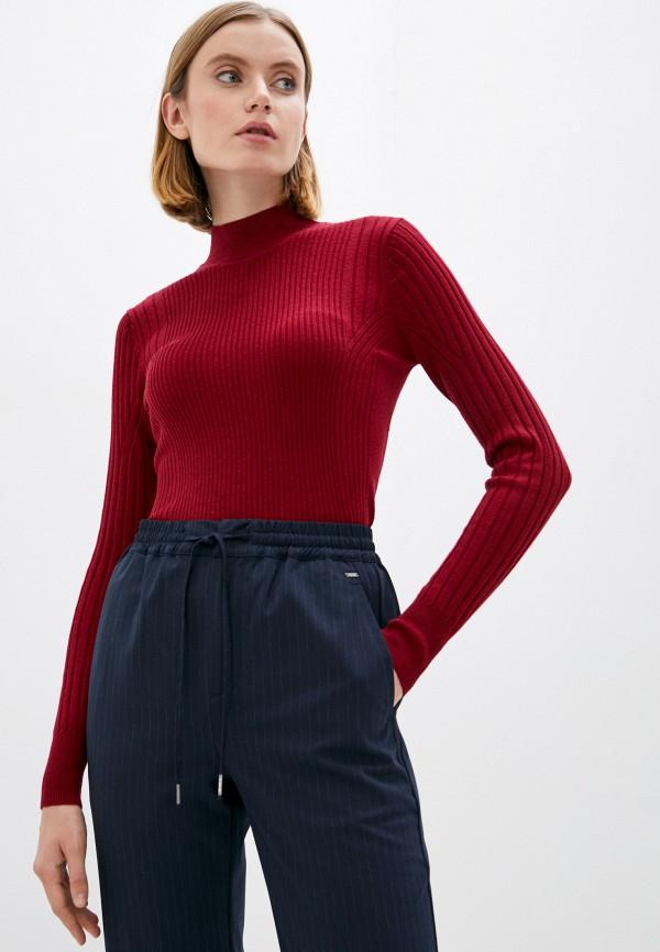 женская водолазка pepe jeans london, бордовая