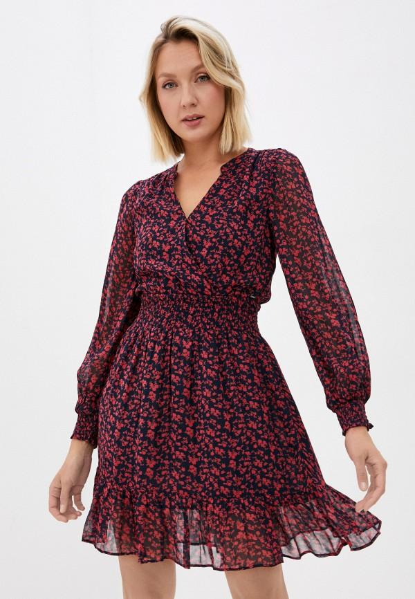 женское платье с запахом pepe jeans london, разноцветное