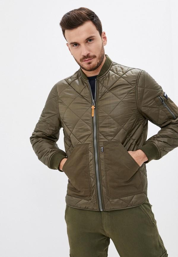 мужская куртка бомбер pepe jeans london, зеленая