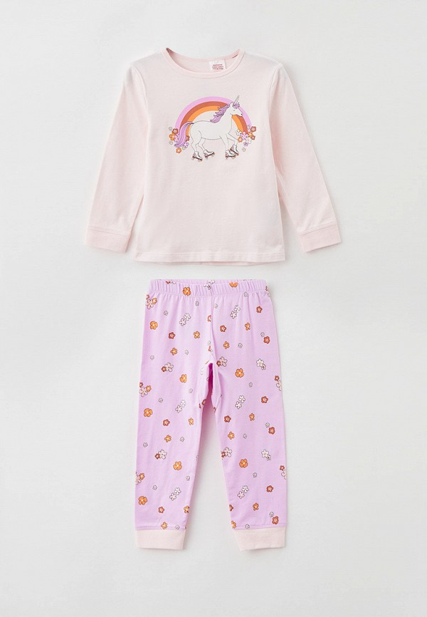 пижама cotton on для девочки, розовая