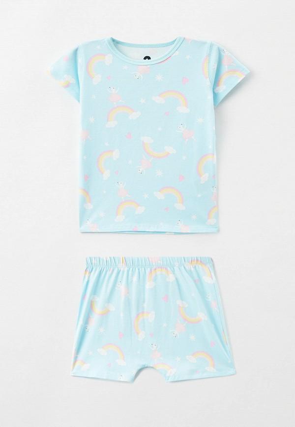 пижама cotton on для девочки, голубая